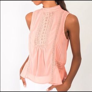NWT Sleeveless Rose Chiffon Blouse - gorgeous!
